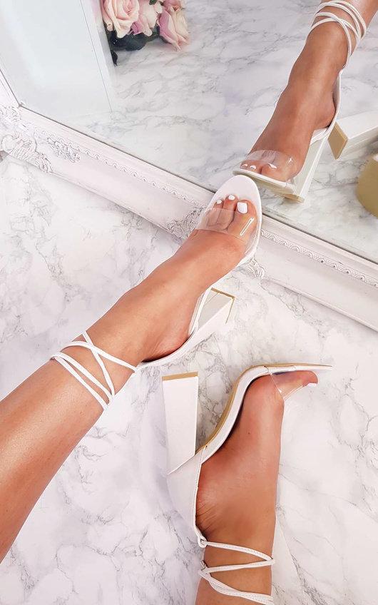 Rosella Perspex Tie Block Heels