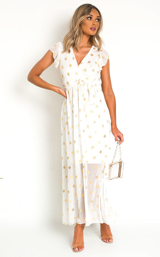 Rosi Polka Dot Maxi Dress