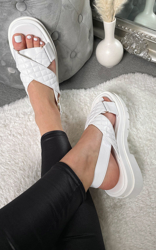 Rosie Quilted Chunky Sandals