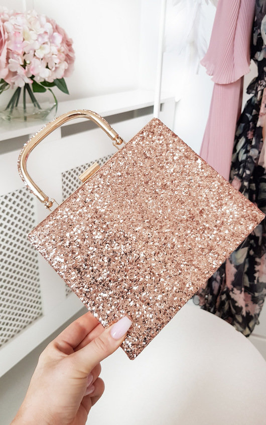 Roxanne Glitter Clutch Bag