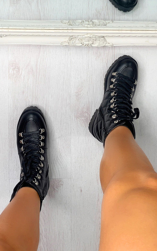 Roxi Quilted Biker Boots