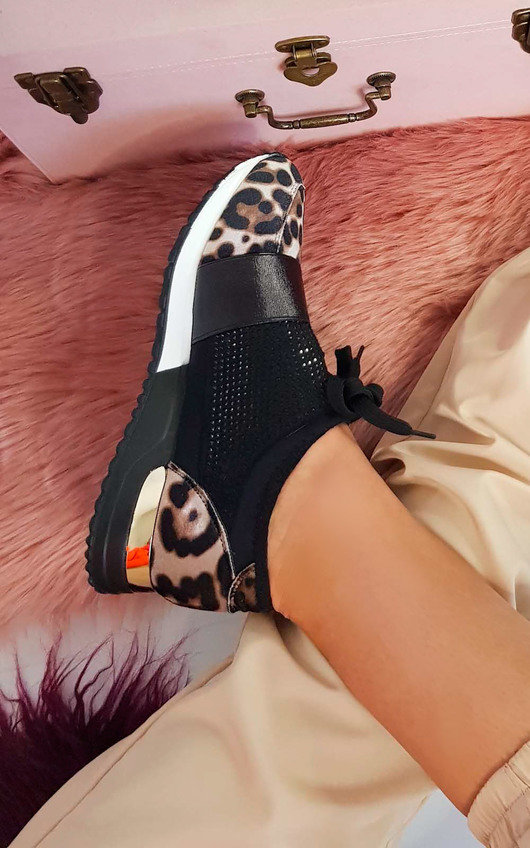 Roxy Faux Suede Embellished Trainers