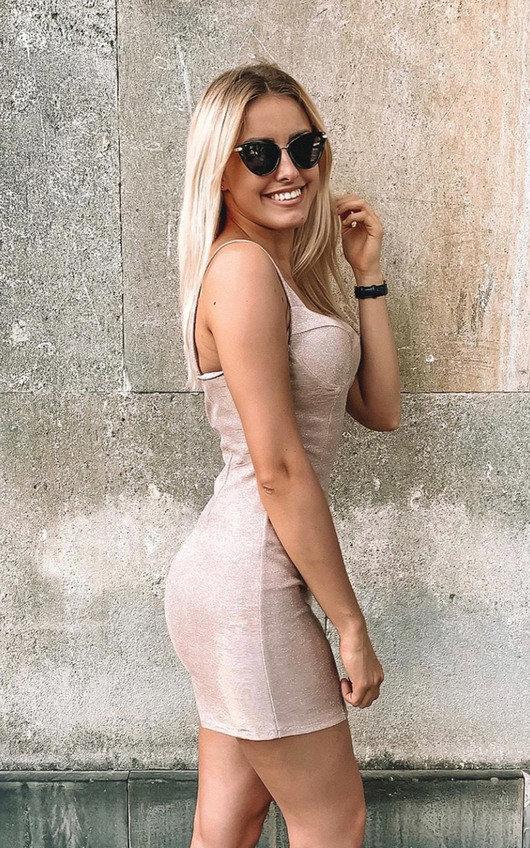 Roxy Glitter Mini Bodycon Dress