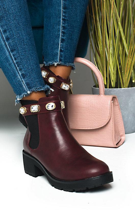 Royaltee Jewelled Chelsea Boots