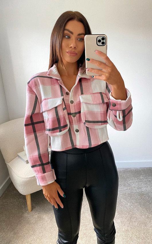 Ruby Cropped Button Down Check Shirt