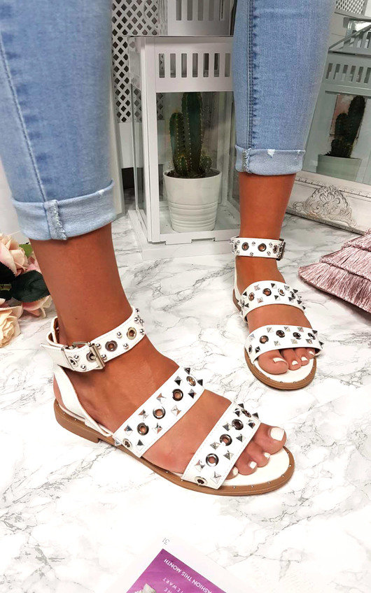 Ruby Strappy Studded Buckled Sandals