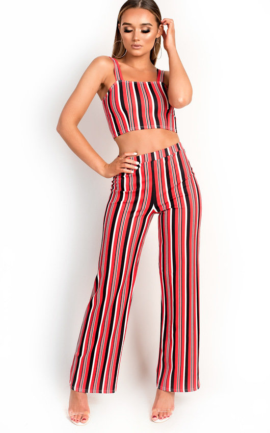 Ruby Stripe Crop Top Co-Ord