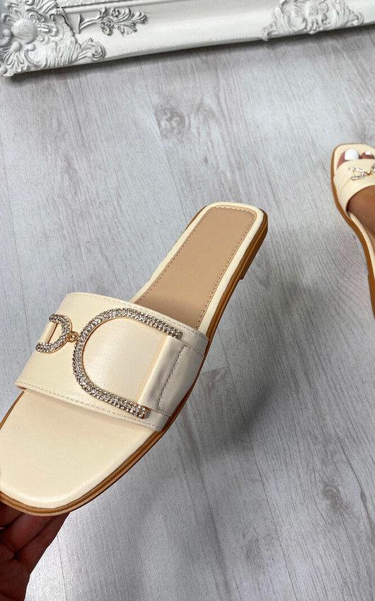 Ruth Sparkle Embellished Slip On Sandal