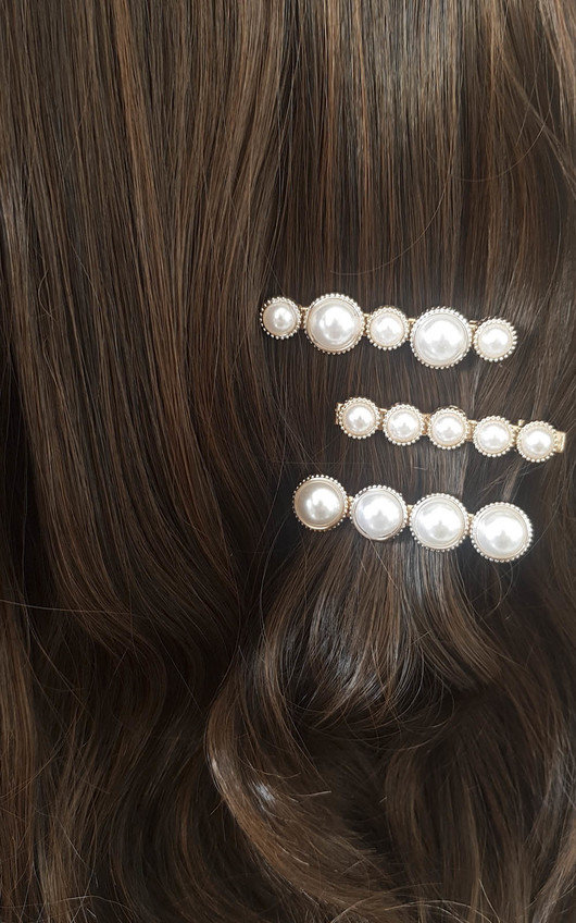 Saara Three Piece Pearl Hair Clip