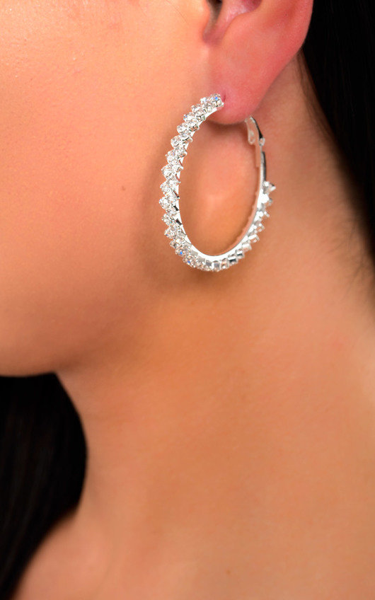 Sabrina Diamante Hoop Earrings