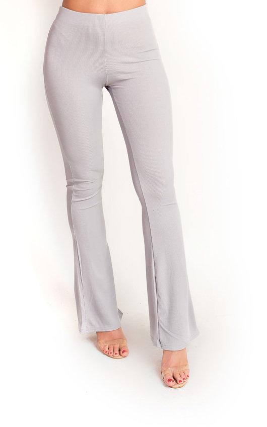 Sabrina Ribbed Flared Trousers