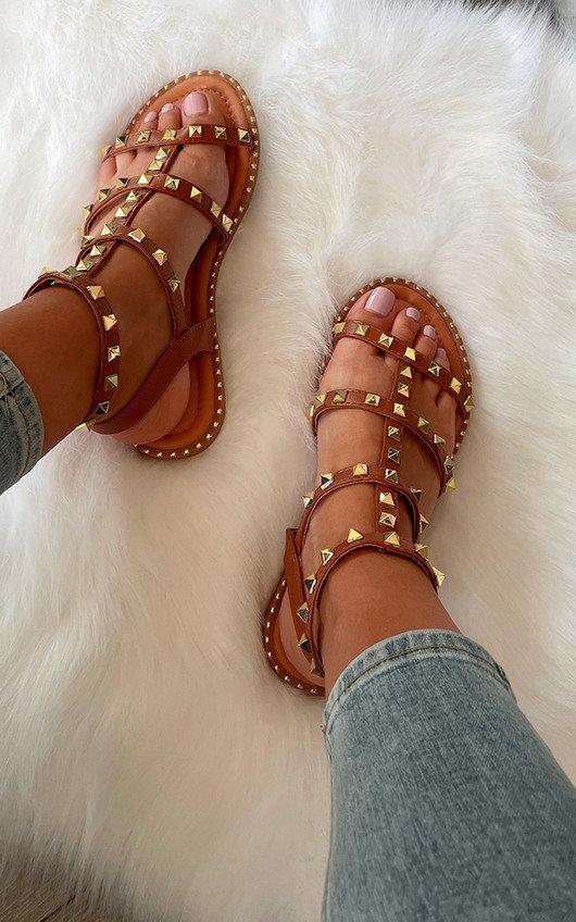Safara Studded Strappy Sandals
