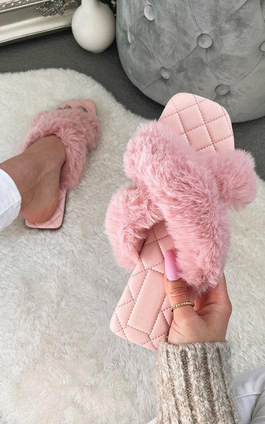 Saffron Faux Fur Sandals