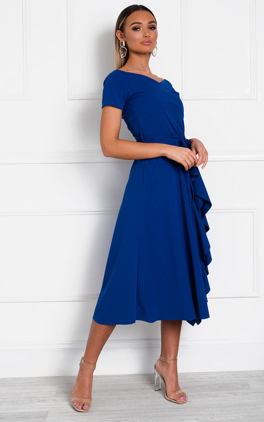 Safia Frill Wrap Dress