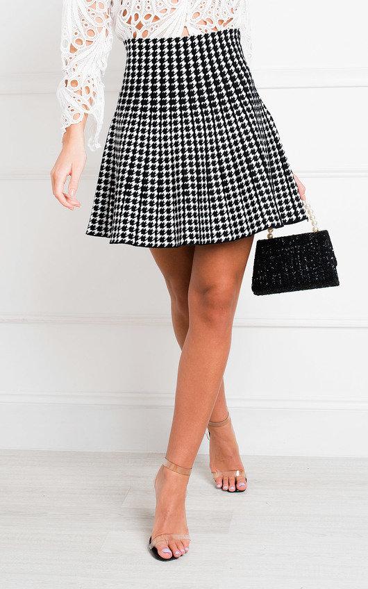 Safia Two Tone Pleated Mini Skirt
