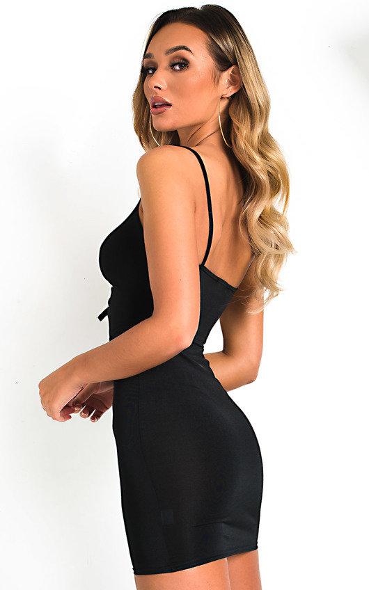 6e448a00a518 Safron Slinky Bodycon Dress in Black | ikrush