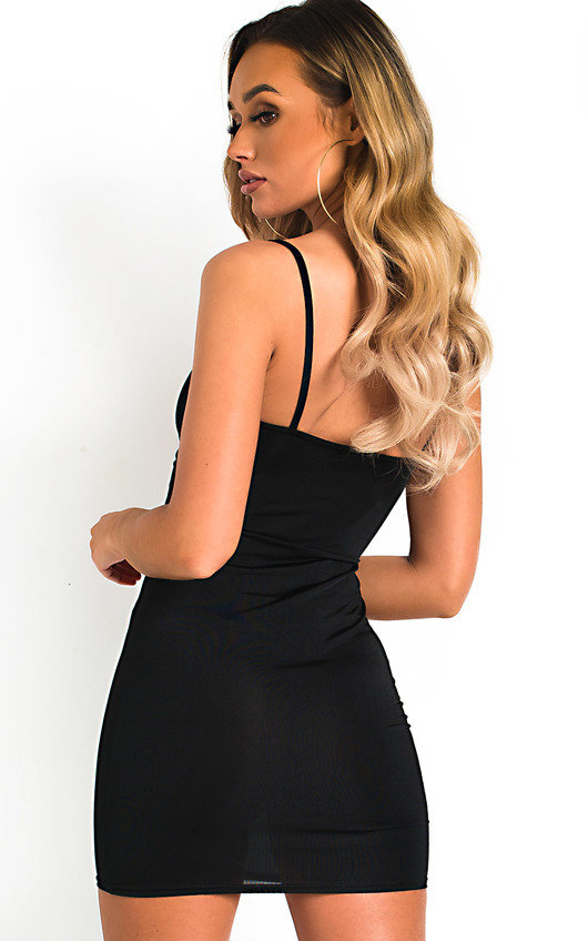 805a0da3ef Safron Slinky Bodycon Dress in Black