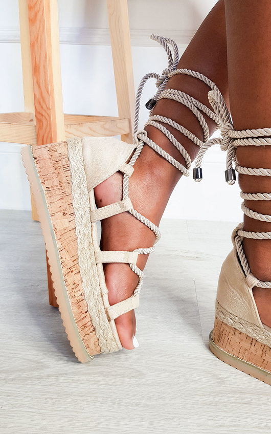 Sally Faux Suede Flatform Sandals
