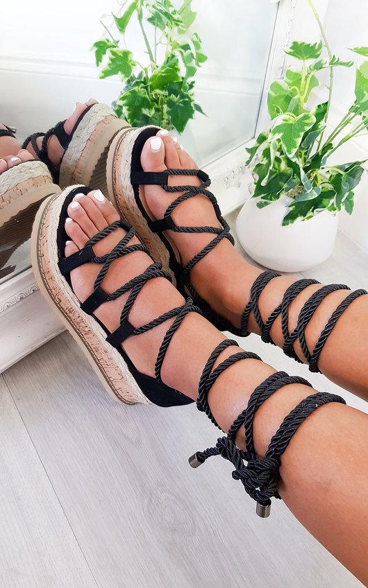 Sally Faux Suede Flatform Sandals