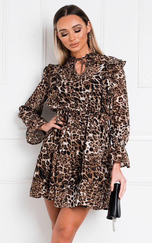 Sally Leopard Print Shift Dress
