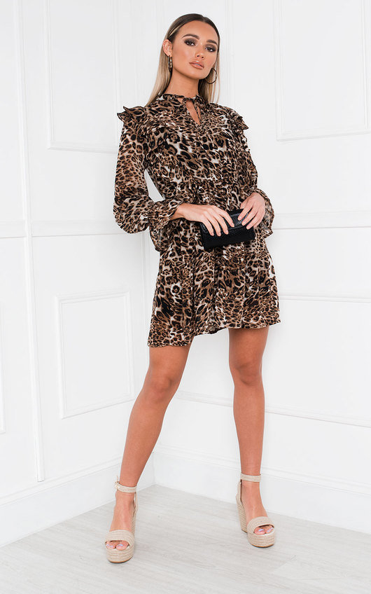 Sally Leopard Print Shift Dress