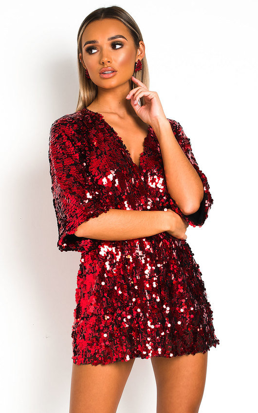 Sally Sequin Playsuit