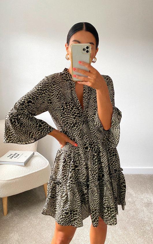 Sam Printed Smock Dress