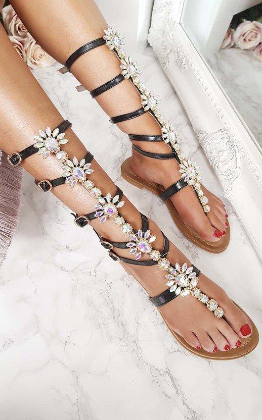 Willow Embellished Gladiator Sandals