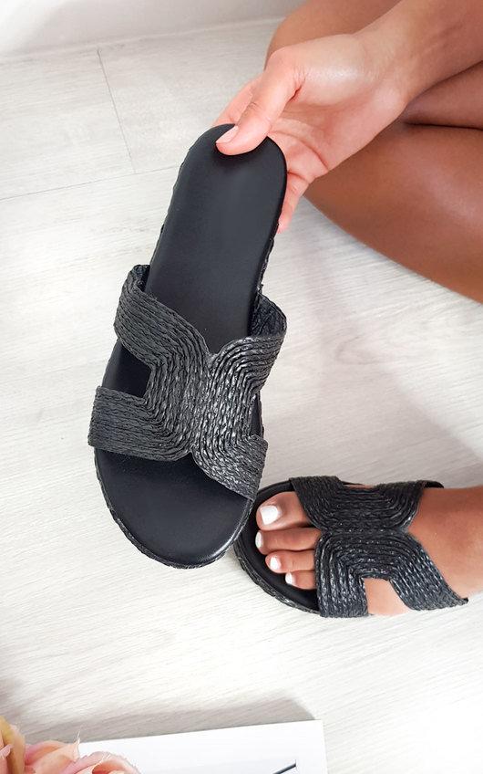 Sandy Woven Flatform Sandals