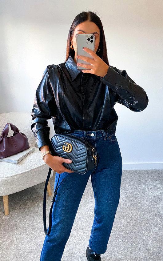 Sannah Faux Leather Shirt