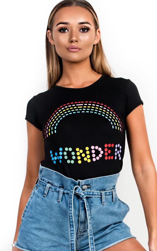 Sara Coloured Graphic T-Shirt