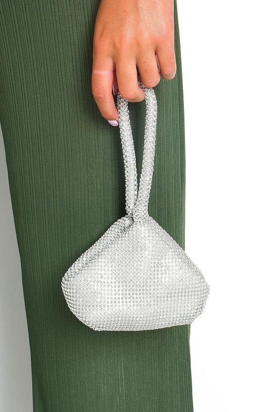 Sara Diamante Chainmail Pouch Bag
