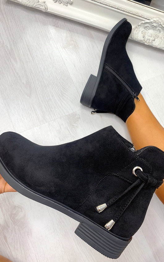 Sara Faux Suede Ankle Boots