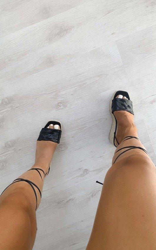 Sara Lace Up Wedged Heel