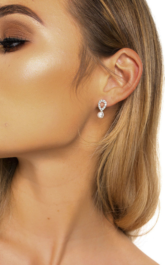 Sara Pearl Drop Diamante Earrings