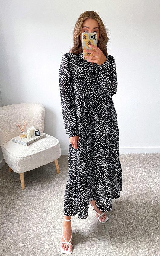 Sara Printed Maxi Dress