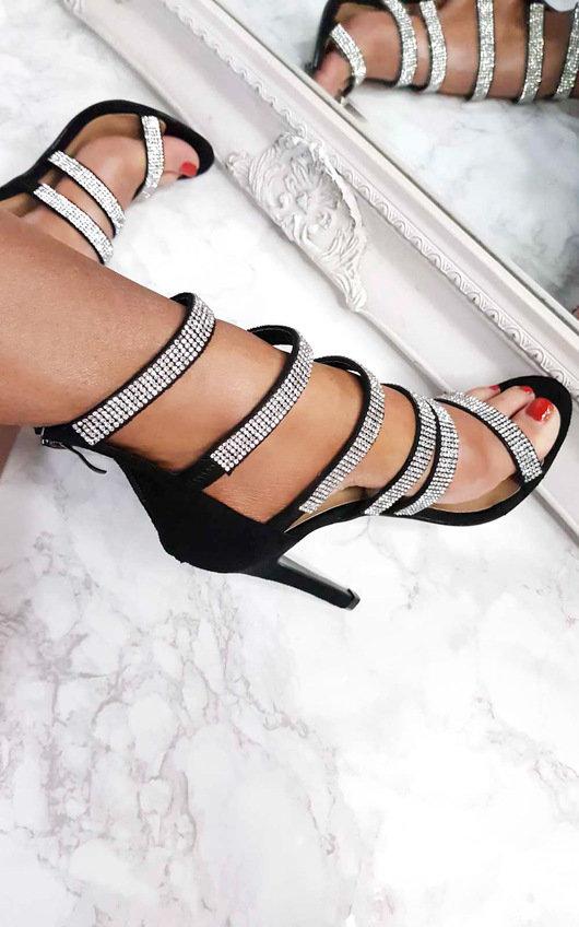 Sara Strappy Diamante High Heels