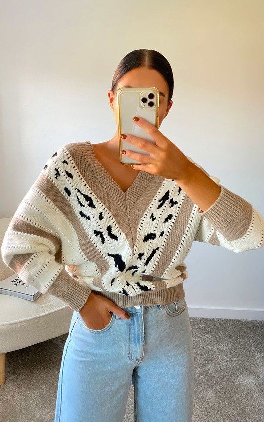 Sara Striped Knitted Jumper