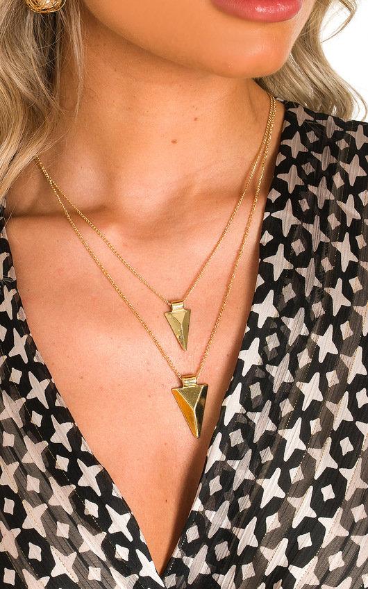 Sarah Arrow Drop Necklace