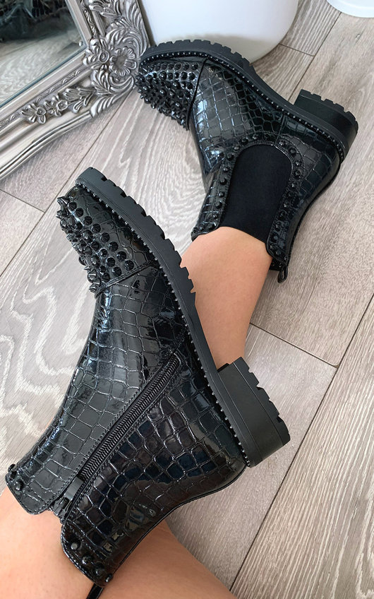 Sarah Studded Ankle Boots