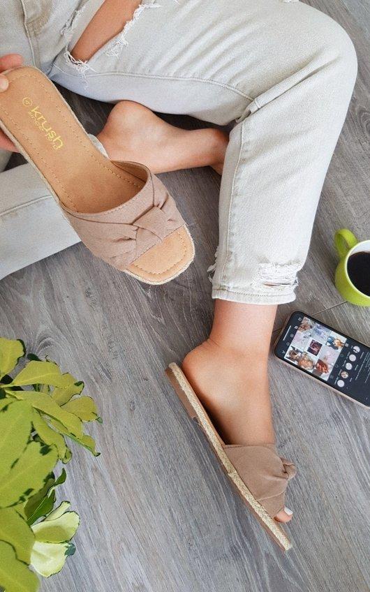 Sarha Bow Woven  Sandals