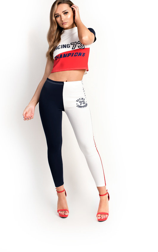 b041bb99deb6 Sarra Sports Colour Block Co-ord in White