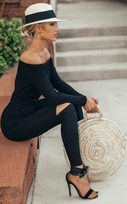 Sarrii Knitted Casual Jumpsuit
