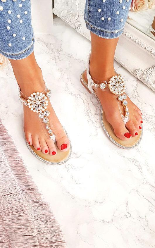 Sarris Embellished T Bar Sandals