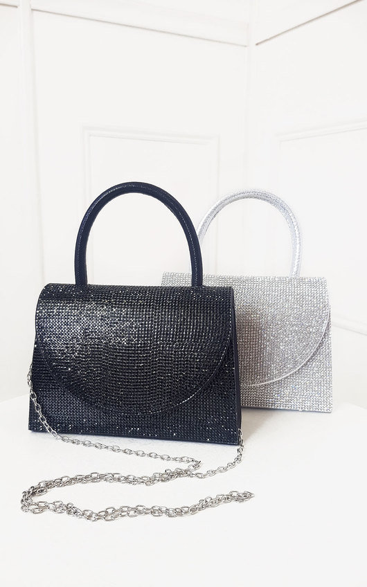 Sasha Diamante Embellished Handbag