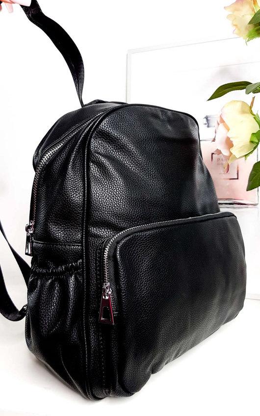 Sasha Faux Leather Backpack Bag