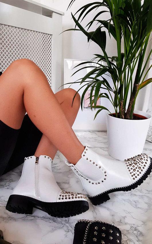 Sasha Studded Ankle Boots