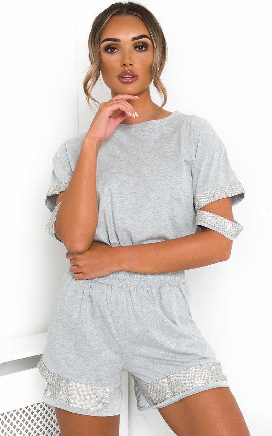 Saskia Diamante T-Shirt and Shorts Co-ord
