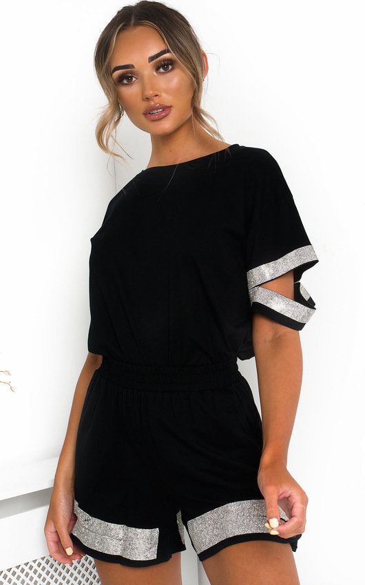 Saskia Diamante T-Shirt and Shorts Co-ord