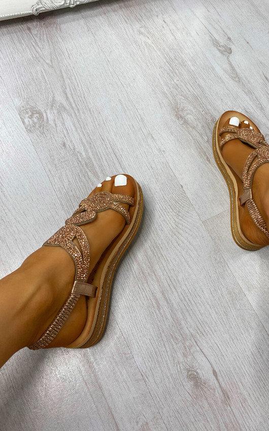 Saskia Sparkle Embellished Sandals